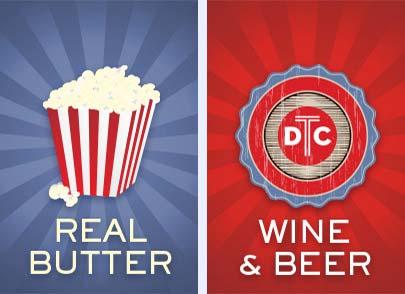 Popcorn & Wine & Beer!
