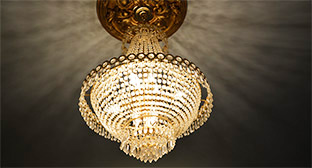 Dedham Community Theatre Chandelier